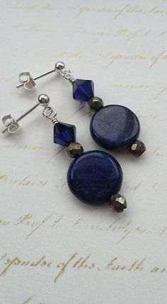 Lapis Lazuli with Sterling Silver Earrings £17.00