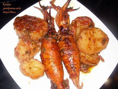 Fried Calamari, Fish Recipes, Chicken Wings, Seafood, Cooking Recipes, Meat, Party, Kitchens, Sea Food