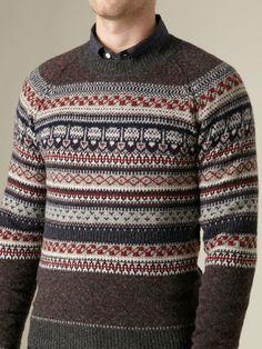 loving this Fair Isle sweater from Shipley & Halmos (via Gilt)