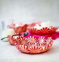 DIY Peppermint Candy Bowls from Candy Aisle Crafts