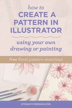 How To Create A Pattern In Illustrator Using Your Own Drawing Or Painting | Graphic Design Tutorial | Design Tips & Tricks