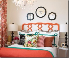 #Pantones #tangerinetango bedroom decor