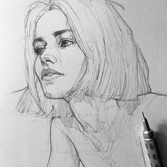 bleistiftzeichnung – Keep up with the times. Pencil Art Drawings, Art Drawings Sketches, Cute Drawings, Realistic Drawings, Portrait Sketches, Portrait Art, Portraits, Arte Sketchbook, Charcoal Art
