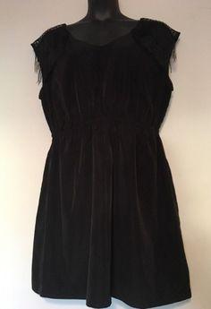 27bcb5336fe Forever 21 Size 3X Black Fringe Dress Studded Above Knee