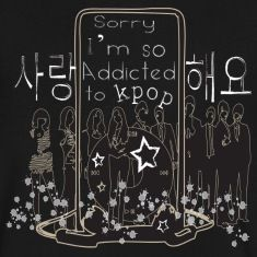 I'm so addicted to kpop k-pop korea pop music sarang hae yo kpop like psy shinee super junior kara snsd dbsk 2pm 2am big bang beast kpop band music art Men's V-Neck T-Shirt by Canvas