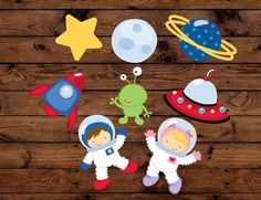 Space Astronaut Birthday cupcake toppers, 16 cupcake toppers,  alien birthday, Rocket party, galaxy birthday,space theme party, UFO decor on Etsy, $8.00