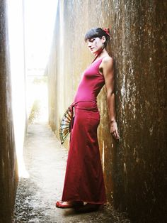 Long maxi dress wrapping back Open back Party dress by Picarona, $52.00
