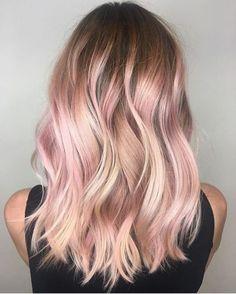 Image result for pastel pink hair blonde