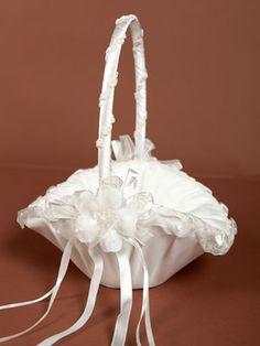 Elegant Flower Girl Basket - Shoes & Accessories