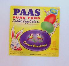 SALE Vintage Paas Easter Egg Decorating Kit by teresatudor on Etsy