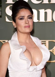 Hollywwod busty celebrity salma hayek hot big boobs expose in white dress -Hc ~ Hot Celebrities Selma Hayek, Salma Hayek Pictures, Jolie Photo, Celebrity Beauty, Beautiful Actresses, Hollywood Actresses, Gorgeous Women, Simply Beautiful, Pretty Woman