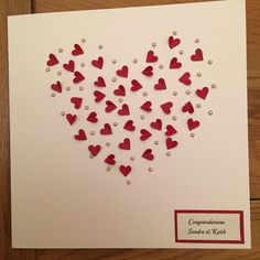 Ruby wedding anniversary card with 40 little hearts
