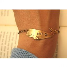 Personalized Whale Bracelet