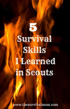 These 5 survival skills learned from years in the Boy Scouts may save your life! | via www.TheSurvivalMom.com