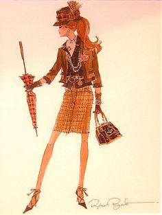 Robert Best Silkstone Plaid Barbie Print