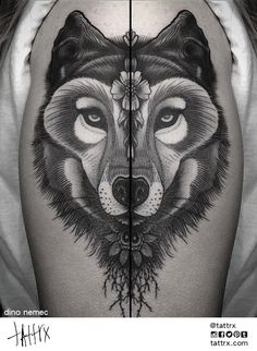 Dino Nemec, columbus, ohio #ink #tattoo #wolf
