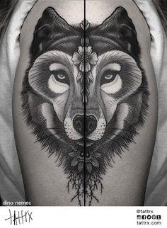 Dino Nemec, columbus, ohio #ink #tattoo #wolf