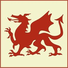 Our Welsh Dragon Stencil depicts a fierce dragon, featured on the national flag of Wales and symbolizing all things Welsh. Our dragon's claws are extended, prepared for battle! -- The Artful Stencil Dragon Claw, Dragon Art, Celtic Patterns, Celtic Designs, Welsh Tattoo, Dragon Medieval, Damask Stencil, Stencil Diy, Stenciling