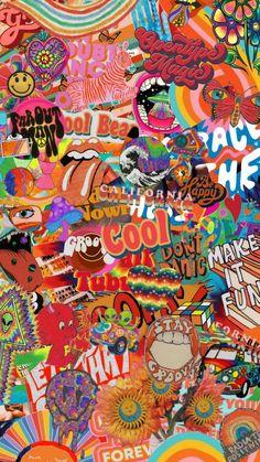 Whats Wallpaper, Retro Wallpaper Iphone, Hippie Wallpaper, Trippy Wallpaper, Iphone Wallpaper Tumblr Aesthetic, Iphone Background Wallpaper, Aesthetic Pastel Wallpaper, Cartoon Wallpaper, Aesthetic Wallpapers