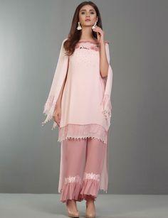 Zainab Chottani Rose Pink Quartz Eid Collection 2017 - Original Online Shopping Store Whatsapp: 00923452355358 Website: www. Pakistani Fashion Casual, Pakistani Dresses Casual, Eid Dresses, Pakistani Dress Design, Party Wear Dresses, Indian Dresses, Fashion Dresses, Fashion Pants, Pakistani Bridal