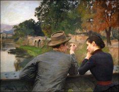 Les amoureux - Emile Friant