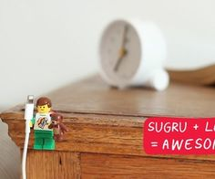 Lego figurines provide makeshift holders for Apple Firewire cables - Apple Charger Cord - Ideas of Apple Charger Cord - Lego Minifigures hacked with Sugru to create iPhone cable holders Lego Hand, Washi, Sugru, Cable Organizer, Cool Lego, Awesome Lego, Gadgets, Iphone Charger, Product Design
