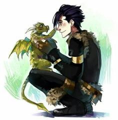 Hiccup as a Dragon & Toothless as a Human