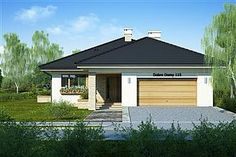 Projekt domu Miriam III 118,1 m2 - koszt budowy - EXTRADOM Terrazzo, Exterior Design, House Plans, Garage Doors, Sweet Home, Shed, New Homes, Outdoor Structures, How To Plan