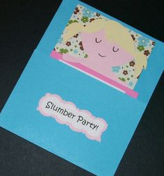 Slumber Birthday Party Invitations Set of 10 by Sassadoodle, $22.00