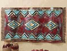 Southwest Wall Art 3d desert sunset cactus southwest hanging metal wall art accent