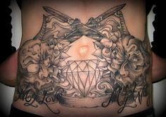 Diamond Tattoo Meaning 26 Diamond Tattoo Meaning, Diamond Tattoos, Tattoos With Meaning, Get A Tattoo, Tattoo Shop, Back Tattoo, Sketchy Tattoo, Large Tattoos, Tattoo Inspiration