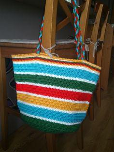 torba plażowa robiona szydełkiem