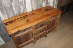 Rustic Reclaimed Barn Wood Vanity and Counter Top, Made to Order, Free Shipping