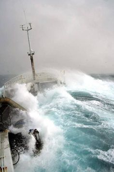 OH MY G.  ACTUAL PIC OF VESSEL IN A STORM AT SEA.  GOTTA RESPECT THOSE FISHERMEN.  MY GOSH.