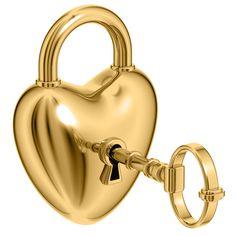 Gold Heart Lock and Key I Love Heart, Key To My Heart, Heart Art, Heart Of Gold, Love You Images, Heart Images, Heart Smiley, Love Lock, Gold Aesthetic