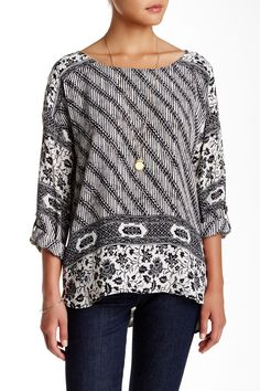 Long Sleeve Printed Hi-Lo Tunic by plenty by TRACY REESE on @nordstrom_rack
