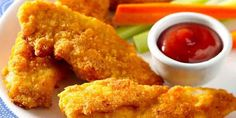 Ultimate Chicken Fingers- Bisquick, parmesean, garlic powder, it salt. Mix those ingredients together, dunk chicken tenders in some egg and into the bisquick mixture and onto a cookie sheet. Spray with Pam and bake at 450 until crispy! Ultimate Chicken Fingers, Baked Chicken Fingers, Homemade Chicken Fingers, Oven Baked Chicken Tenders, Breaded Chicken, Crispy Chicken, Healthy Chicken, Chicken Finger Recipes, Chicken Appetizers