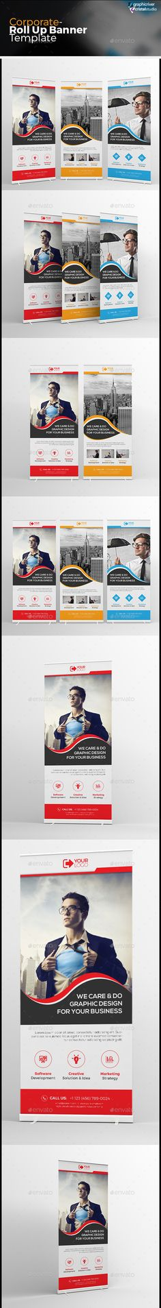 Buy Corporate Roll-up Banner by CRISTAL_P on GraphicRiver. Corporate Roll-up Banner is very easy to use and change text,color,size,look and everything because i made it on ill. Store Signage, Event Signage, Corporate Branding, Corporate Business, Banner Vector, Banner Template, Signage Design, Banner Design, Roll Up Design