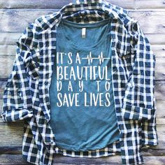 SALE | It's A Beautiful Day to Save Lives Shirt | Grey's Anatomy | Grey's Anatomy Shirt | Southern Sweetheart Gifts by SthrnSweetheartGifts on Etsy https://www.etsy.com/listing/488013889/sale-its-a-beautiful-day-to-save-lives