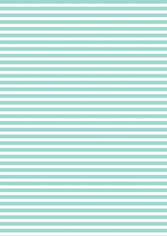 FREE printable turquoise-white striped pattern paper ^^