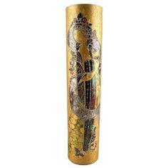 Rosenthal Studio Line, Bjorn Wiinblad Large Porcelain Vase, Decorated in Gold