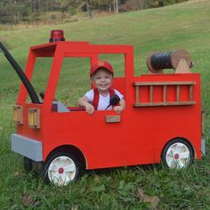 Our Radio Flyer Fire Truck Happy Halloween, Halloween 2015, Holidays Halloween, Logan Halloween, Halloween Ideas, Wagon Halloween Costumes, Wagon Costume, Baby Costumes, Radio Flyer