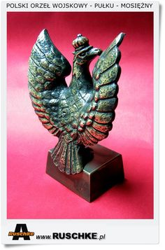 Polish eagle figurine statue Military brass handicraft Hand Made Gift for veteran and patriot