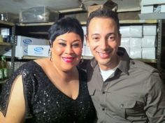 Carlos Keyes and Martha Wash backstage at a club in New York City.