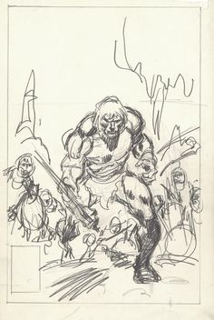 Conan the Barbarian #124 Cover by John Buscema - Prelim Comic Art