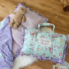 Mermaid Nap Mat Roll blanket and pillow