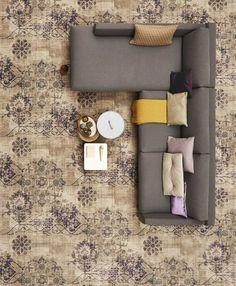 Een naturellen #interieur komt tot leven met Bonaparte Vintage #tapijt