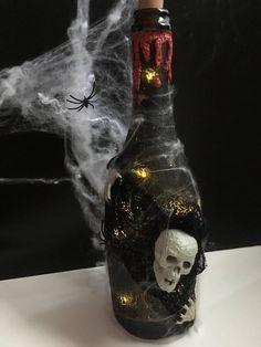 Clairet / Fľaša Halloween Led, Halloween, Bottle, Home Decor, Decoration Home, Room Decor, Flask, Home Interior Design, Jars