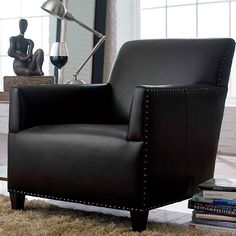 Sanford Chair in black leather