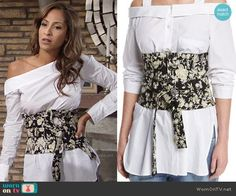 Lily's floral obi on The Young and the Restless.  Outfit Details: https://wornontv.net/71671/ #TheYoungandtheRestless